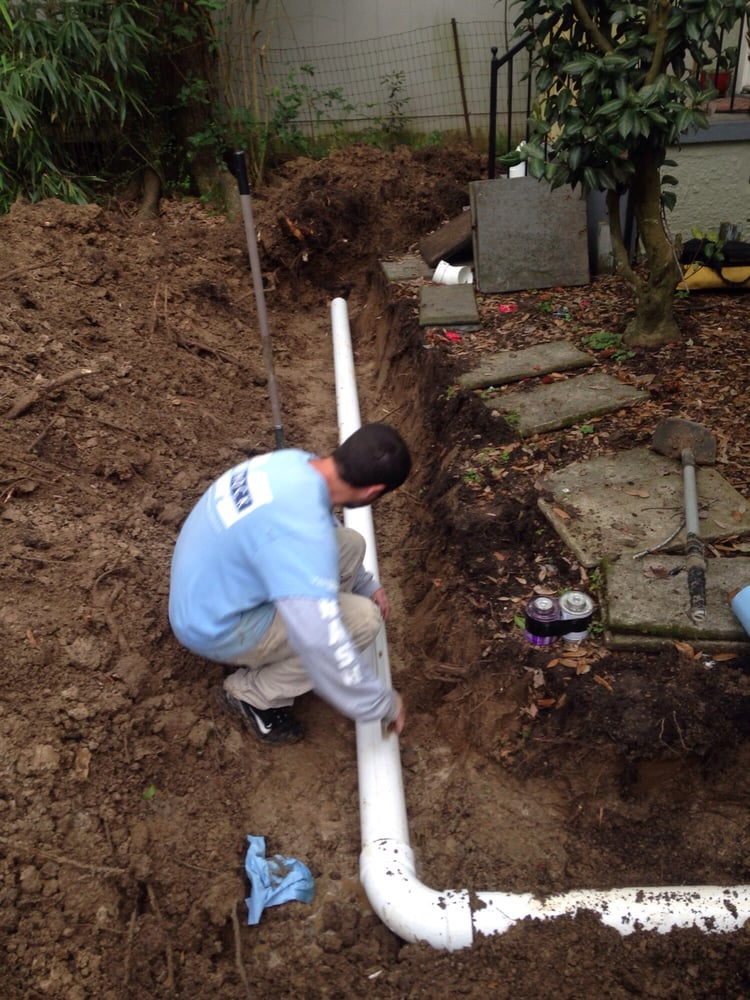 Sugar Land Plumber Mock Plumbing Outdoor Drain Install